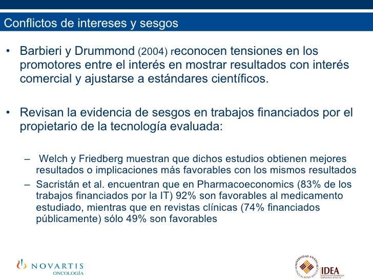 <ul><li>Barbieri y Drummond  (2004) r econocen tensiones en los promotores entre el interés en mostrar resultados con inte...