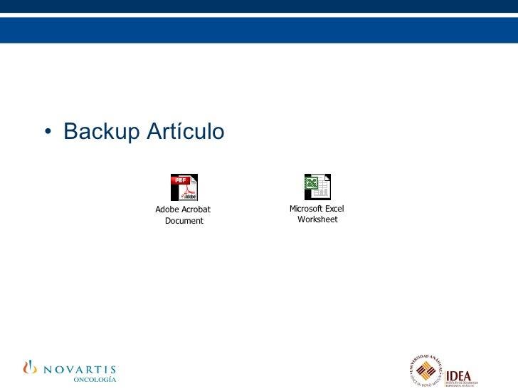 <ul><li>Backup Artículo </li></ul>
