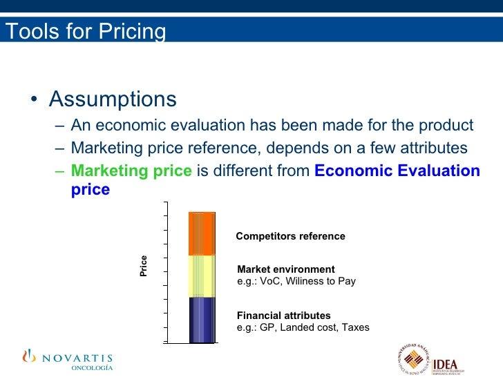 <ul><li>Assumptions </li></ul><ul><ul><li>An economic evaluation has been made for the product </li></ul></ul><ul><ul><li>...