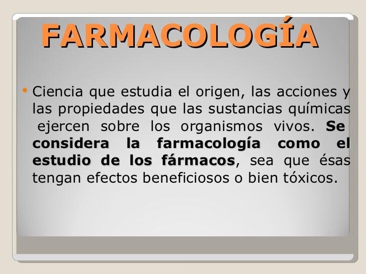 Farmacología Slide 2