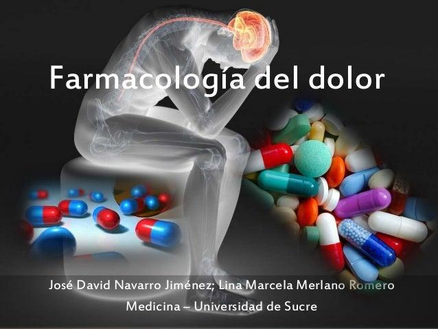 Farmacología del dolor