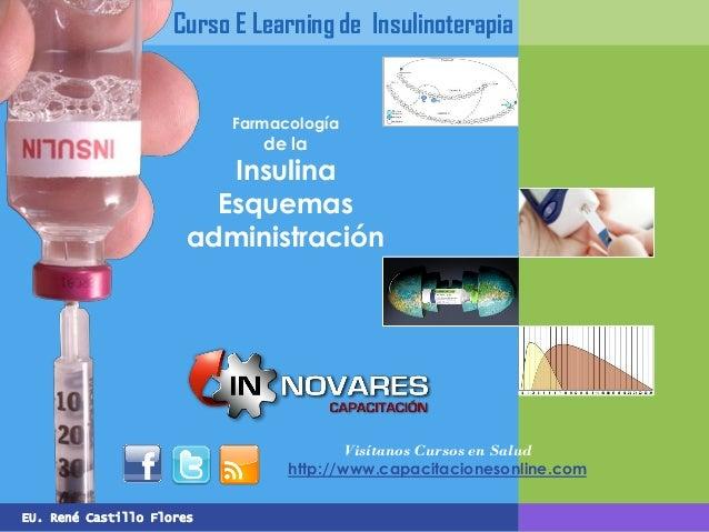 EU. René Castillo Flores Curso E Learning de Insulinoterapia Farmacología de la Insulina Esquemas administración Visítanos...