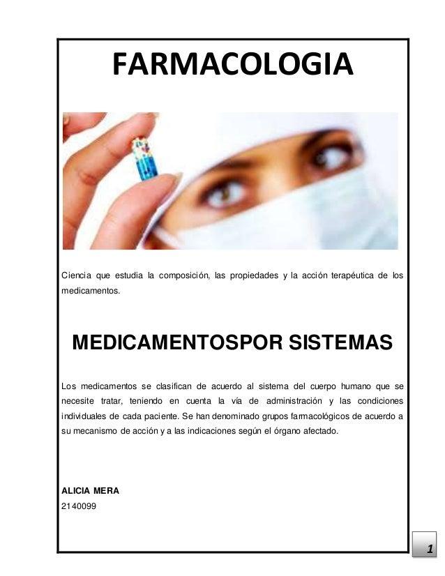 1 FARMACOLOGIA Ciencia que estudia la composición, las propiedades y la acción terapéutica de los medicamentos. MEDICAMENT...