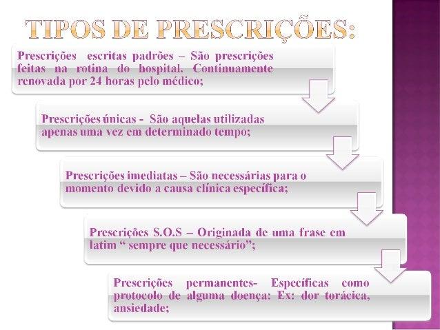  Existem algumas prescrições que exigem cálculos, nesse caso certifique-se com outro profissional de enfermagem a dosagem...