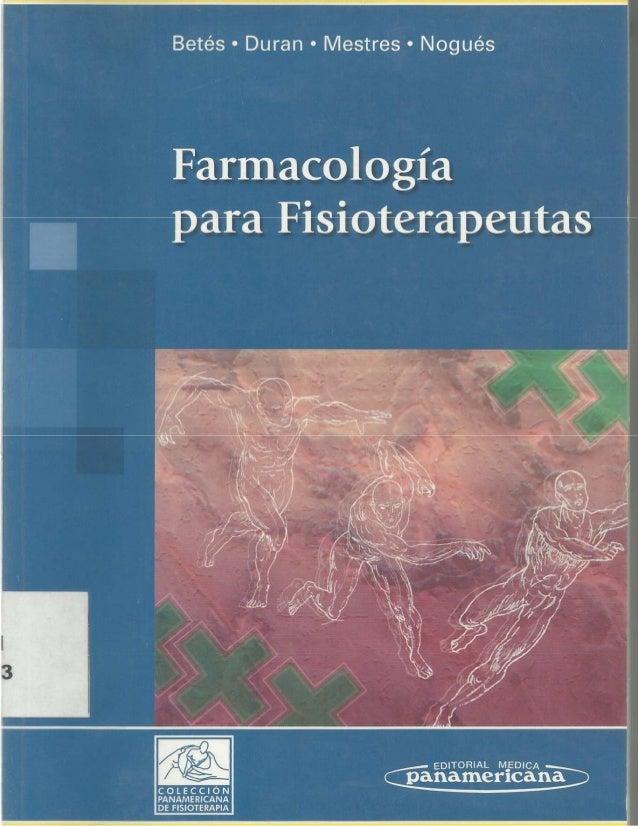 farmacologia para fisioterapeutas pdf