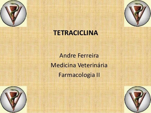 TETRACICLINA Andre Ferreira Medicina Veterinária Farmacologia II
