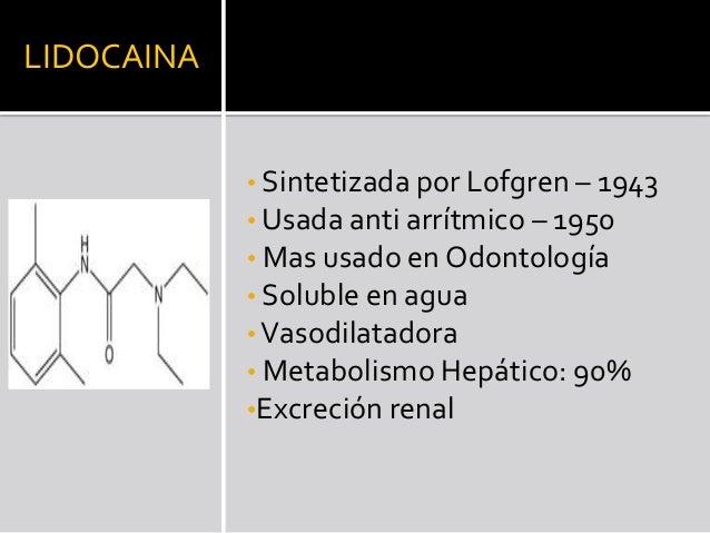 Prilocaína 4 % simple  Prilocaina 3% con Felipresina  Dosis máxima  300 mg  500 mg  Dosis Cartucho  72 mg  54 mg  Dosis mí...