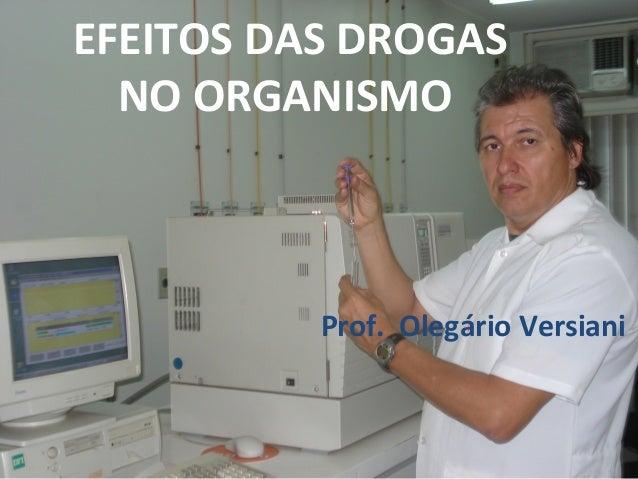 EFEITOS DAS DROGAS NO ORGANISMO Prof. Olegário Versiani