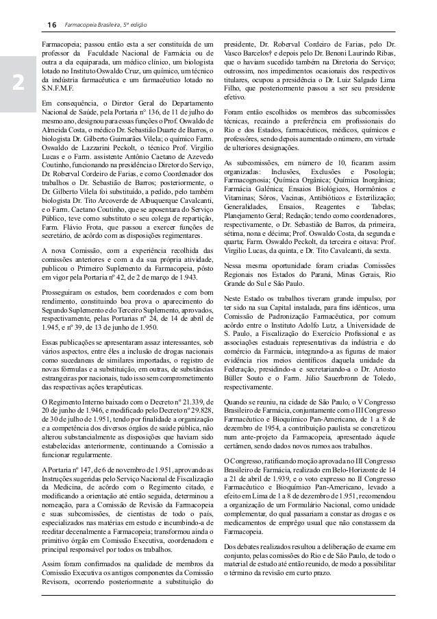 farmacopia brasileira parte 2 primeiro fascculo
