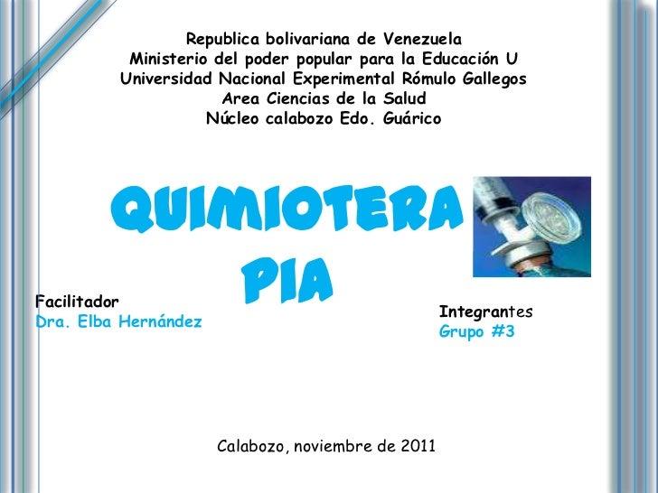 Republica bolivariana de Venezuela          Ministerio del poder popular para la Educación U         Universidad Nacional ...