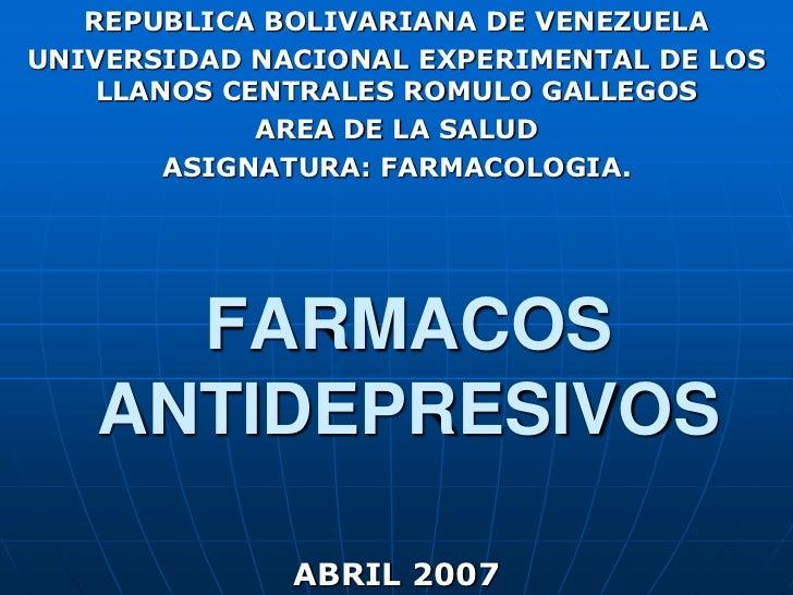 REPUBLICA BOLIVARIANA DE VENEZUELA<br />UNIVERSIDAD NACIONAL EXPERIMENTAL DE LOS LLANOS CENTRALES ROMULO GALLEGOS<br />ARE...