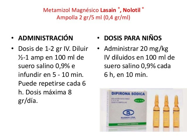 Dosis De Nimotop Iv