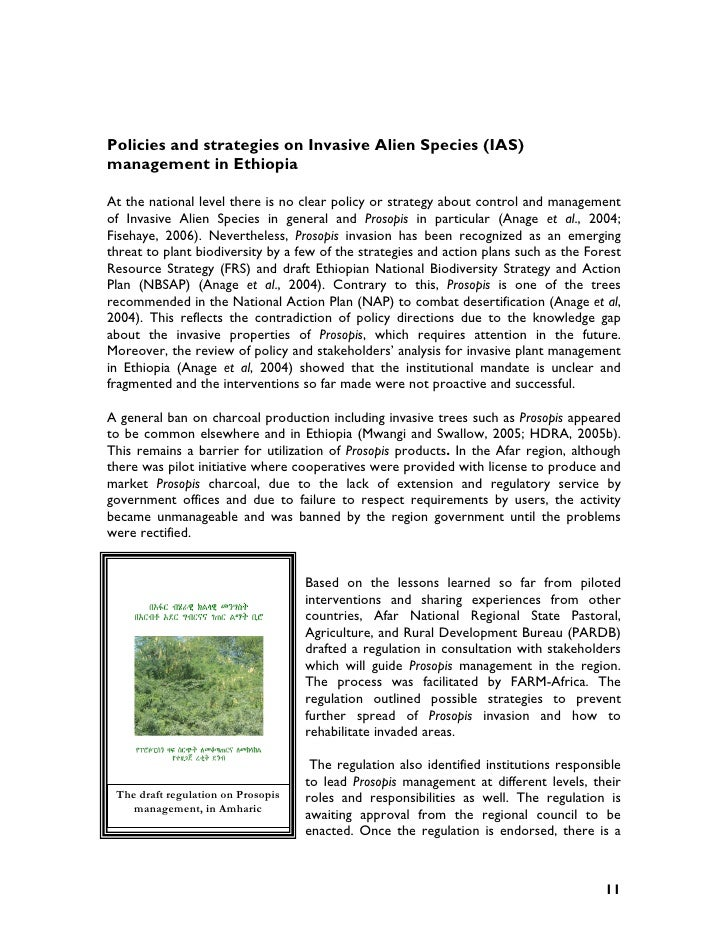 Ethiopian national biodiversity strategy and action plan