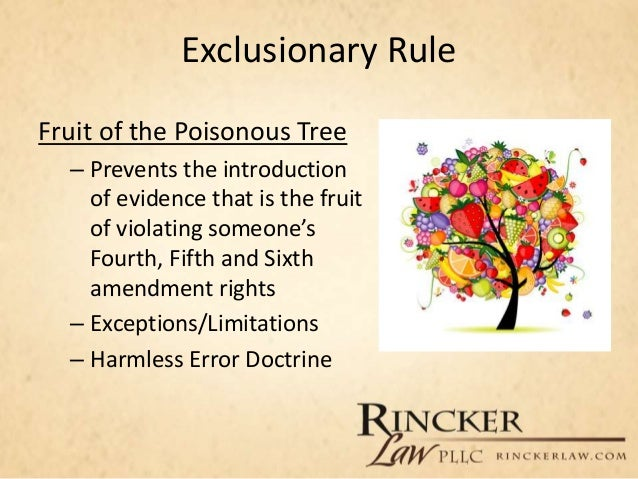 fruit in vagina fruit of the poisonous tree doctrine