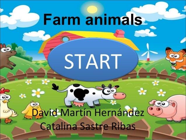 Farm animals  START David Martín Hernández Catalina Sastre Ribas
