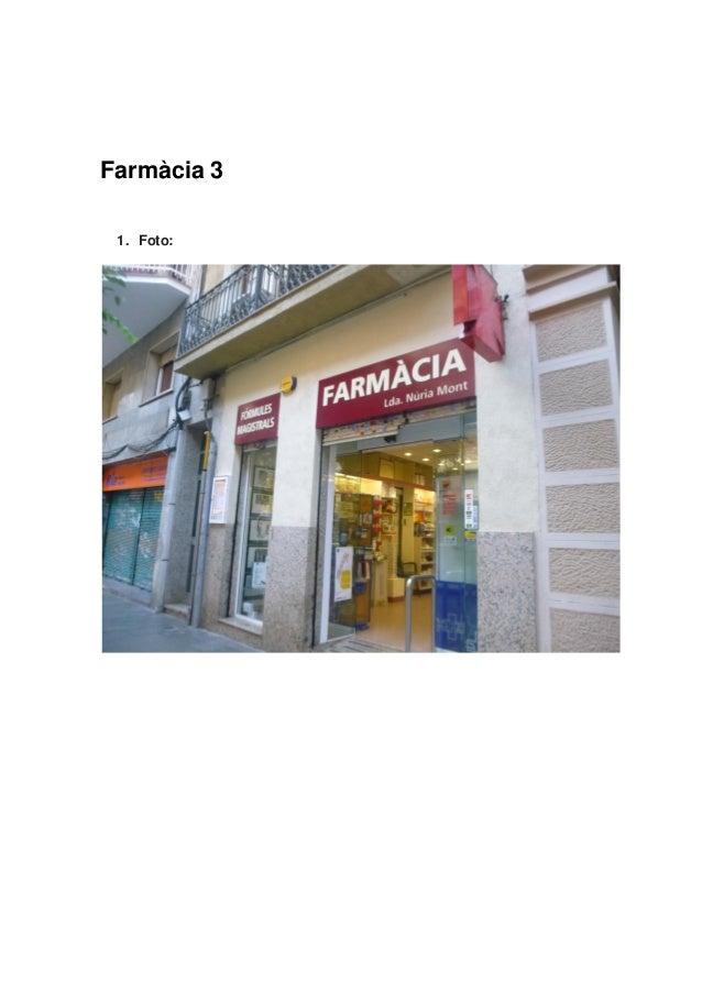 Farmàcia 31. Foto: