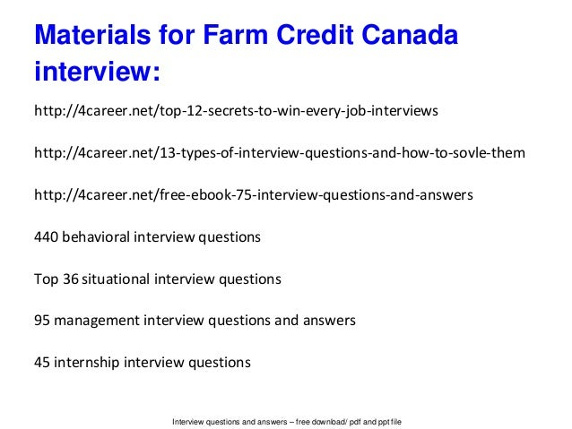 programs consulting farm credit canada program