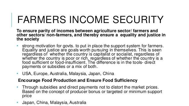 Farmer income support across world Slide 2