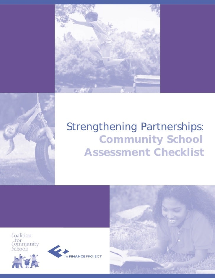 Strengthening Partnerships:       Community School     Assessment Checklist