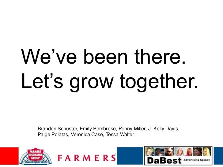 "We""ve been there.Let""s grow together. Brandon Schuster, Emily Pembroke, Penny Miller, J. Kelly Davis, Paige Polatas, Veron..."