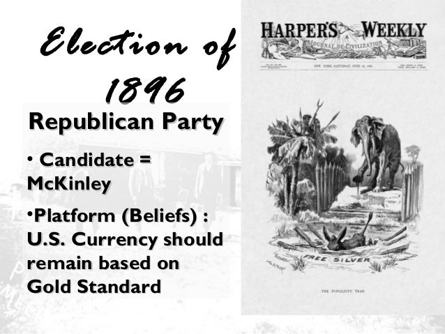the populist party A third-party movement that sprang up in the 1890s and drew support especially from disgruntled farmers the populists were particularly known for advocating the unlimited coinage of silver the party endorsed william jennings bryan, a champion of free silver, in the presidential election of 1896 .