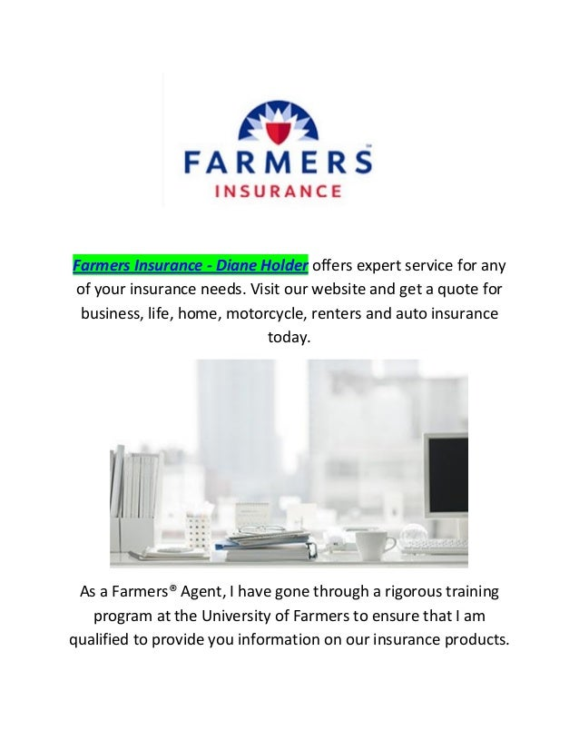 farmers insurance   diane holder auto health amp life