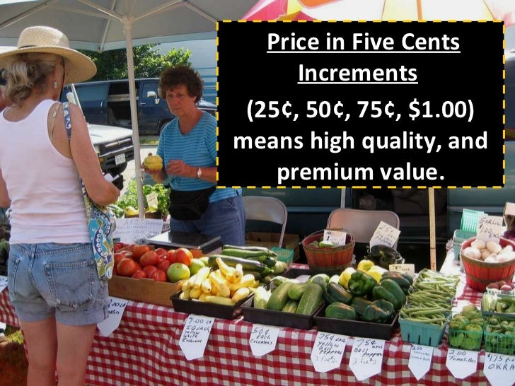 farmers market display and pricing