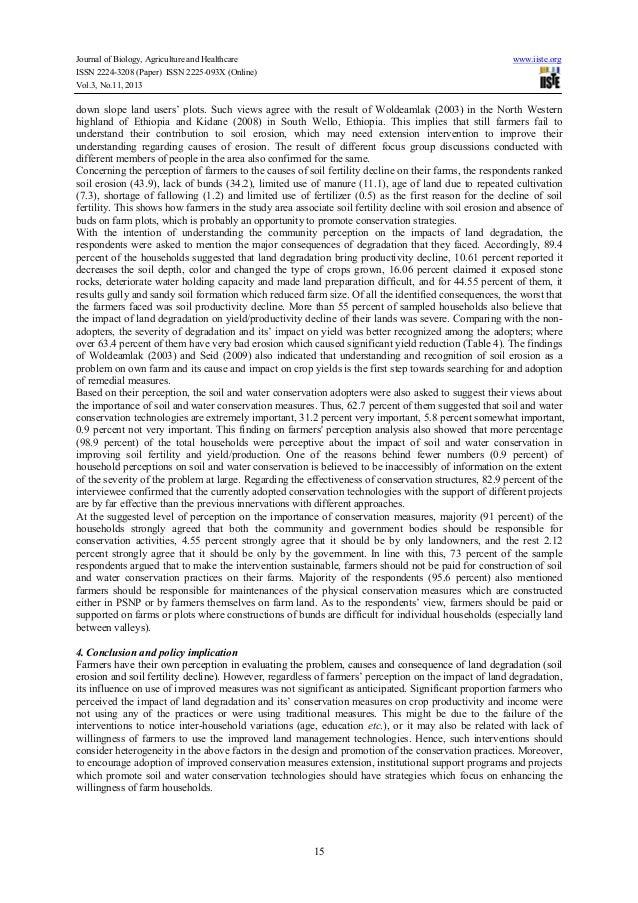 Land degradation Essay Examples