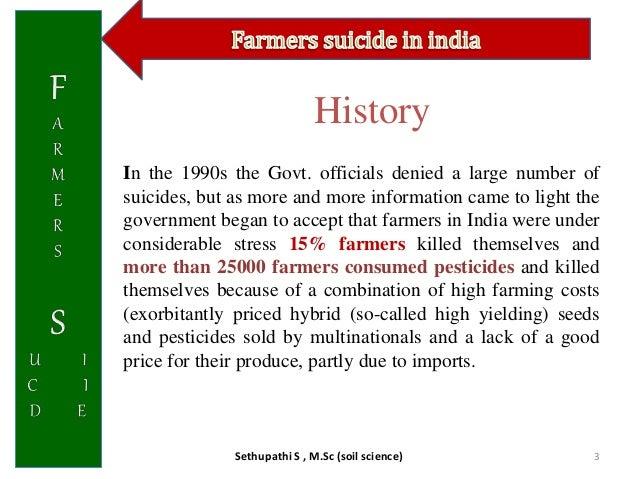 Farmer suicide in india Slide 3