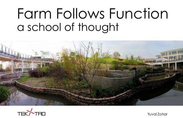 Farm Follows Function a school of thought Yuval Zohar
