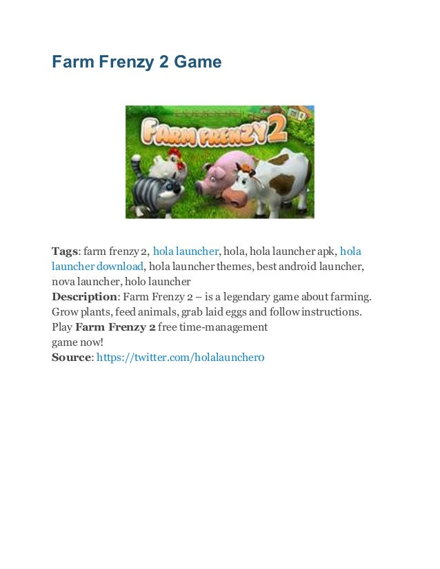 Farm frenzy 2 free download full version for android