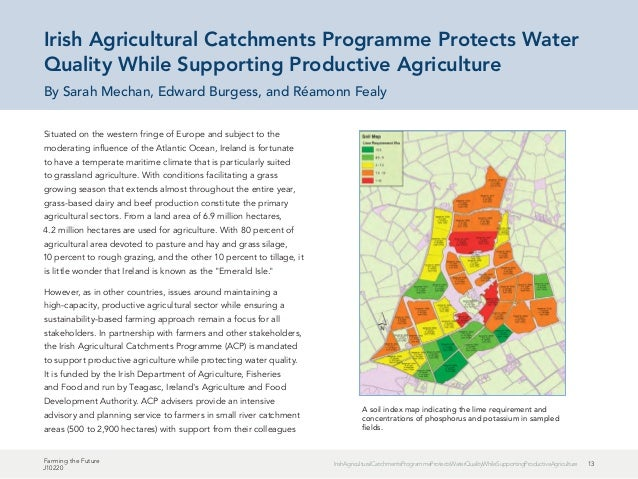 13IrishAgriculturalCatchmentsProgrammeProtectsWaterQualityWhileSupportingProductiveAgriculture Farming the Future J10220 S...