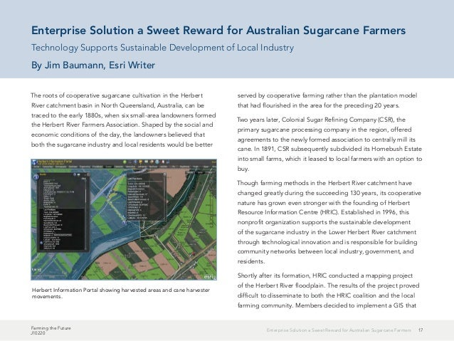 17Enterprise Solution a Sweet Reward for Australian Sugarcane Farmers Farming the Future J10220 The roots of cooperative s...