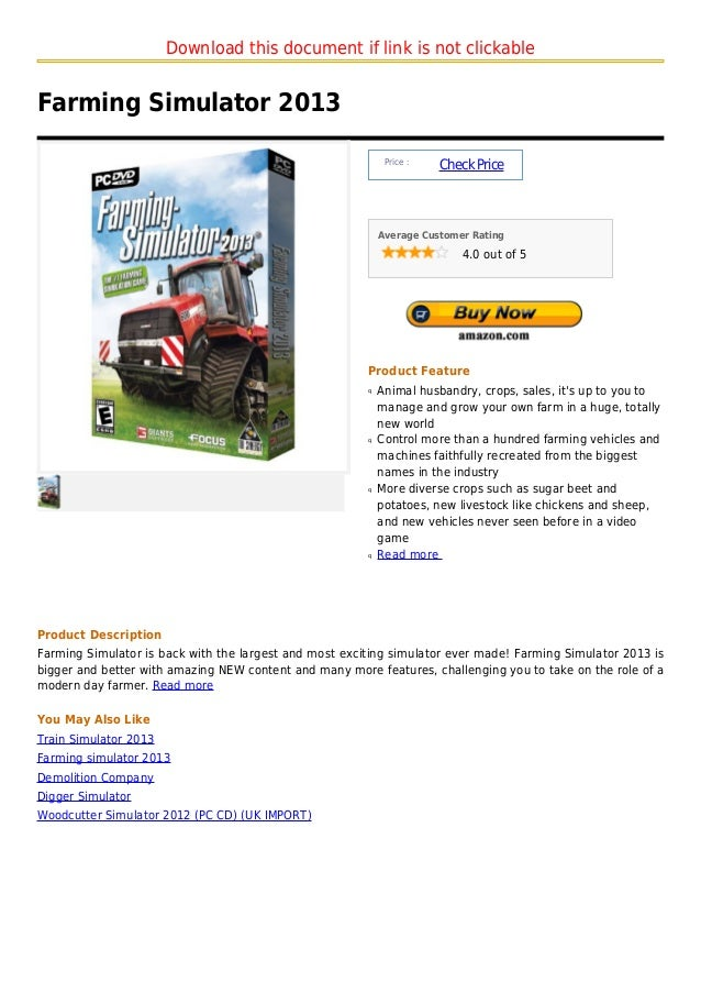 Download this document if link is not clickableFarming Simulator 2013                                                     ...