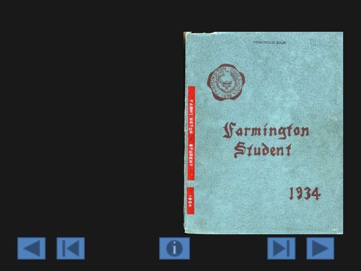 Farmington high school yearbook   1934 Slide 3
