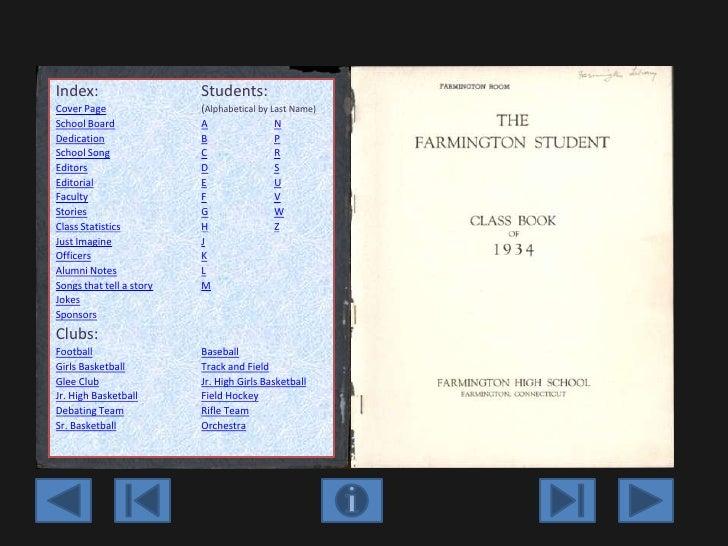 Farmington high school yearbook   1934