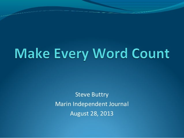 Steve Buttry Marin Independent Journal August 28, 2013