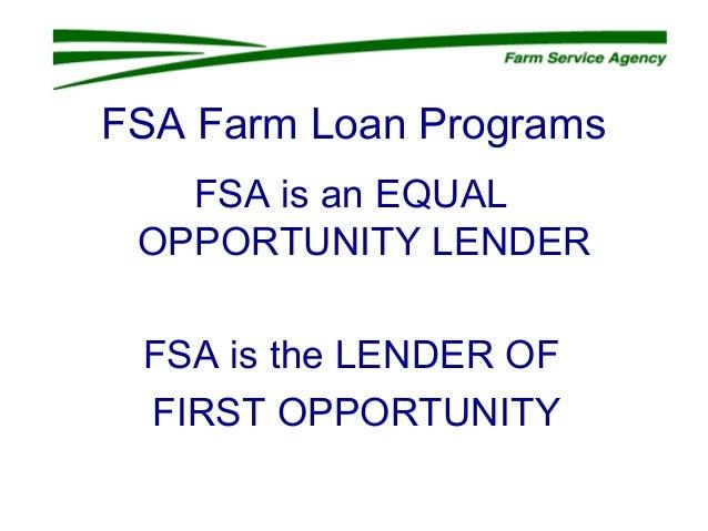 FSA Farm Loan Programs