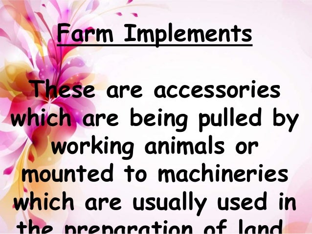 Farm Tools And Implement