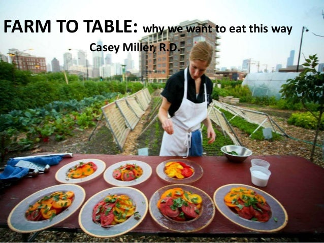 FARM TO TABLE: why we want to eat this way            Casey Miller, R.D.
