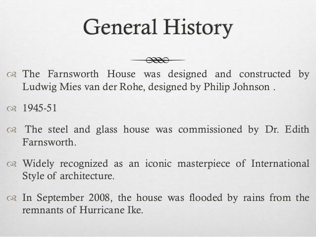 Farnsworth house Construction Details Slide 2