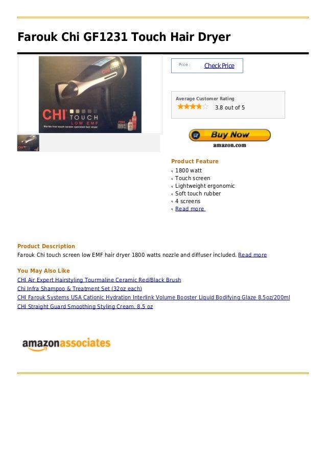 Farouk Chi GF1231 Touch Hair Dryer                                                              Price :                   ...