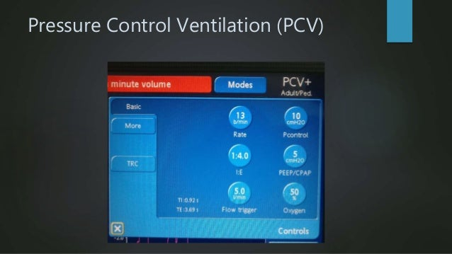 Intermittent Mandatory Ventilation(IMV)Pressure  Machine breaths are delivered at a set rate (volume or pressure limit) ...