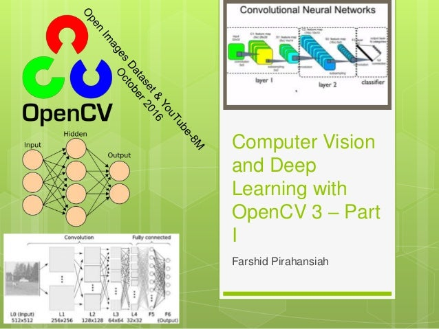 Computer Vision and Deep Learning with OpenCV 3 – Part I Farshid Pirahansiah