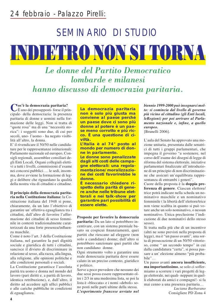24 febbraio - Palazzo Pirelli:                                 SEMINARIO DI STUDIOINDIETRO NON SI TORNA                  L...