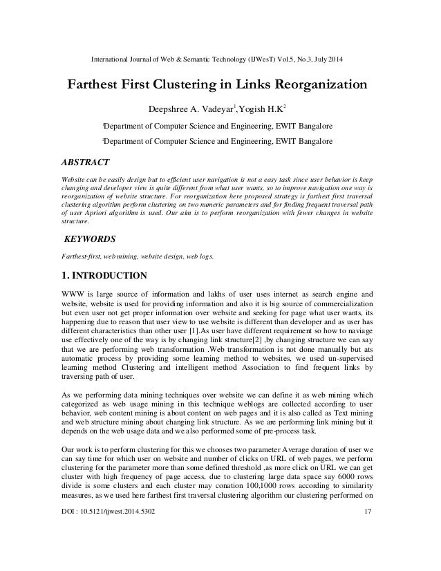 International Journal of Web & Semantic Technology (IJWesT) Vol.5, No.3, July 2014 DOI : 10.5121/ijwest.2014.5302 17 Farth...