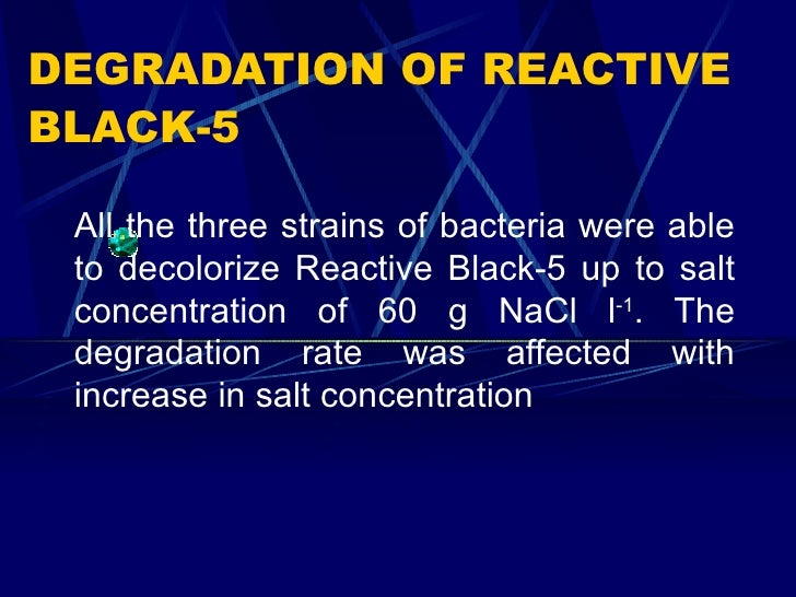 azo dye degradation by bacteria thesis
