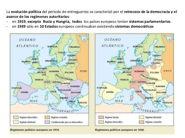 Resultado de imagen de la crisis de las democracias en el periodo de entreguerras mapa
