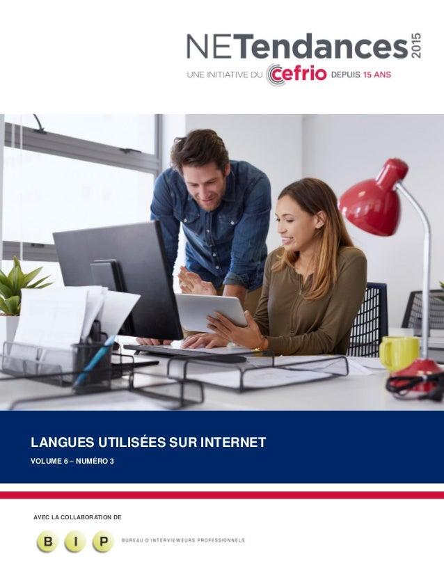 AVEC LA COLLABORATION DE LANGUES UTILISÉES SUR INTERNET VOLUME 6 – NUMÉRO 3