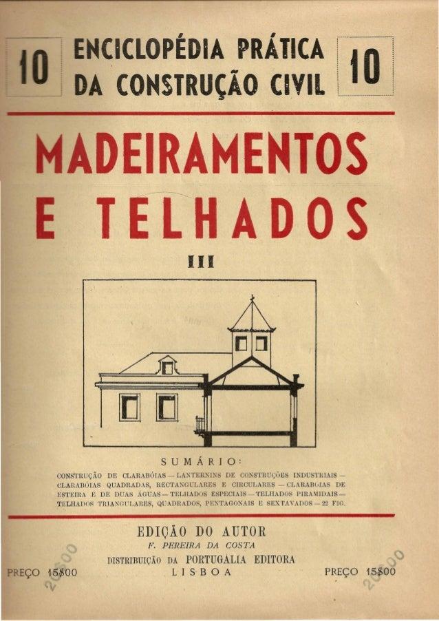 CICLOPEDIA· PRAIICA  A CONSTRUtl0 CIVIL  j·- -~- -'~--------------------i..'  I tOl ·,·, ,,,, L . J.  DEIRAMENTOS - '- T E...